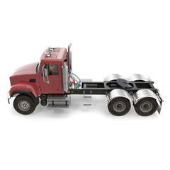 Semi Trailer Truck on White. 3D illustration