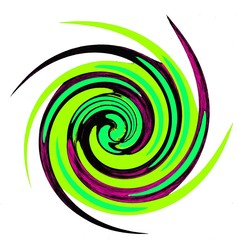 Abstraction spiral in a green colors