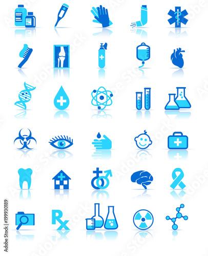 Medical Healthcare Icon Collection Symbols Healthcare