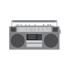 Retro cassette player. Tape recoder vector