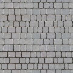 Seamless Tileable Texture of Gray Paving Slabs.