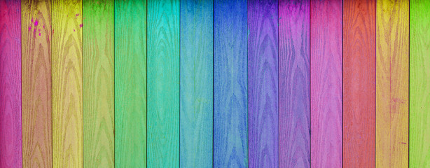 Colorful Wood Background. Painted wall texture.