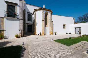 Courtyard in the Se Cathedral (Cathedral of Faro) in the Old Town , Faro, Algarve, Portugal.