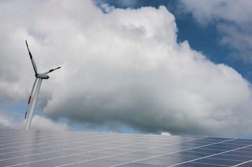 Solar energy. Windenergy. Green energy