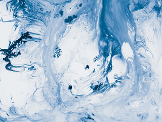 Blue marble abstract hand painted background