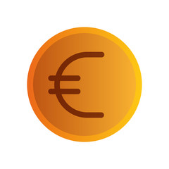 euro coin isolated icon vector illustration design