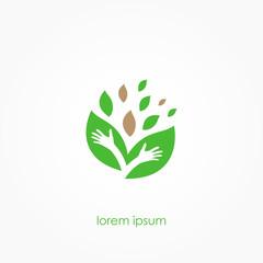 Organic Product Logo, ECO Logo, Vector Illustration