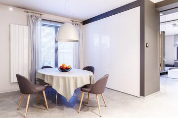 Simple dining room interior