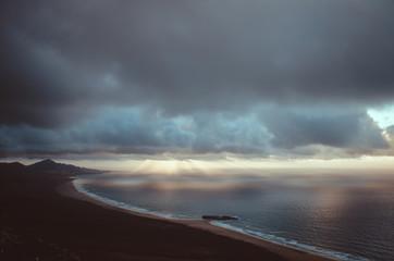 ocean landscape (sunset)