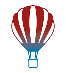 balloon air hot fliying vector illustration design