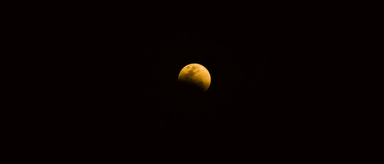 landscape and nature concept with blue blood moon see and take picture event on january 2018