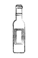 french wine bottle icon vector illustration design