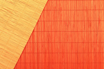 Background of chinese bamboo tablecloths of red and brown colors