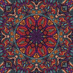ethnic seamless pattern ornamental mexican design