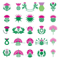 Thistle Icon Set.