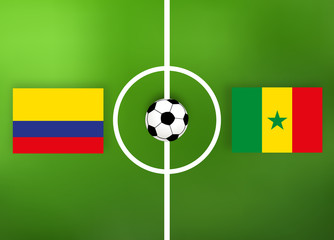 Kolumbien gegen Senegal - Fußballfeld