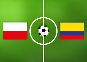 Polen gegen Kolumbien - Fußballfeld