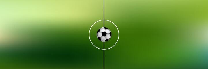 Ball auf Mittellinie