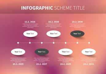 Infographic Layout with Pink Gradient Background