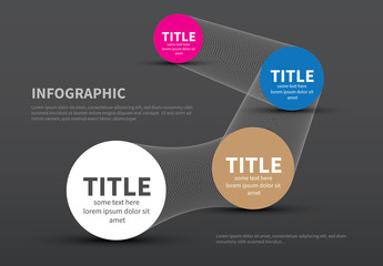 Mesh Connection Infographic with Circular Text Fields