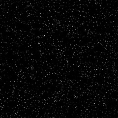 Outer space, starry dark sky, seamless pattern, black and white texture. Chaotic point spraying. Vector