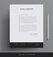 Elegant letterhead template design in minimalist style