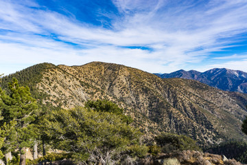 Ridge-line in Angeles Mountains