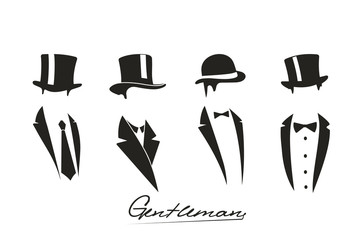Gentleman icon on white background.