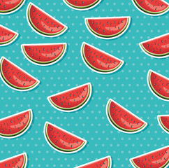 fresh watermelon healthy food pattern vector illustration design
