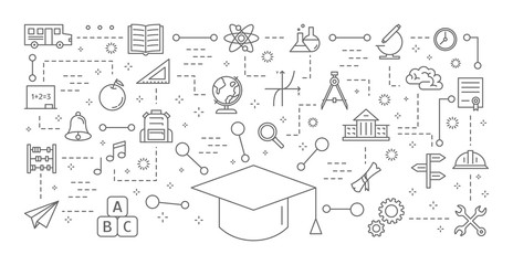 Educatrion icons set.