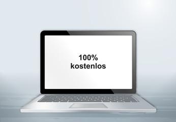 Laptop auf Holztisch - 100% kostenlos