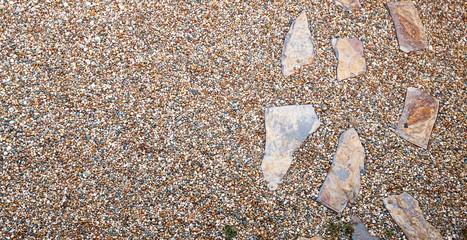 Crazy paving laid as ornamental stepping stones