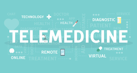 Telemedicine concept illustration.