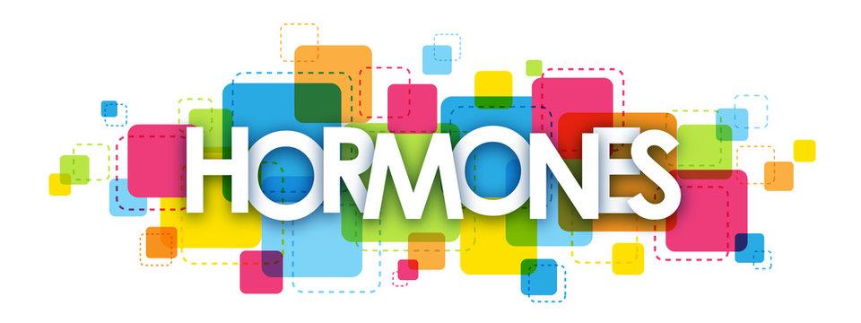 HORMONES colourful letters icon