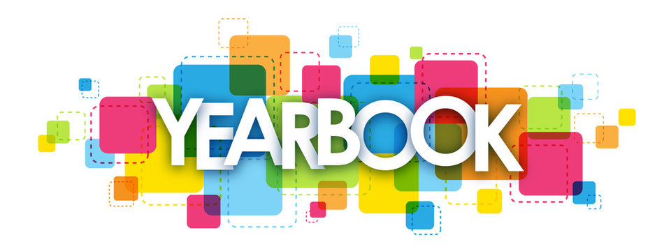 YEARBOOK colourful letters icon