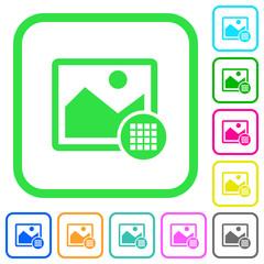 Image color palette vivid colored flat icons