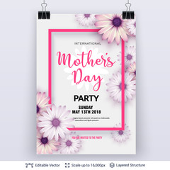 Mother's day greeting card template.