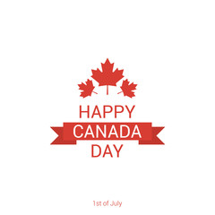 Happy Canada Day poster template. Vector illustration