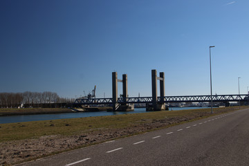 Calandbrug, a bridge in the harbor of Rotterdam as alternative for the tunnel