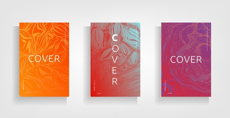 Abstract covers design, gradients vector set.Brochure template layout, cover design annual report, magazine, flyer in A4 with figures and lines triangles, square, circles. Flower texture