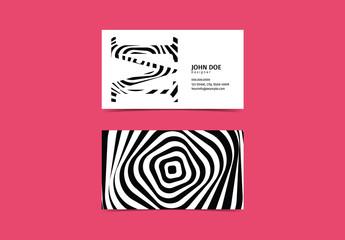 Monogrammed Business Card Set