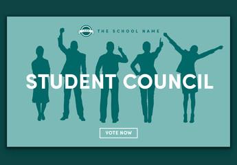 School Organization Landing Page Layout