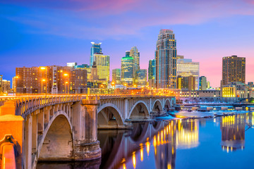 Fotobehang Verenigde Staten Minneapolis downtown skyline in Minnesota, USA