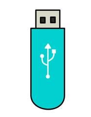 USBメモリ(青、模様白)