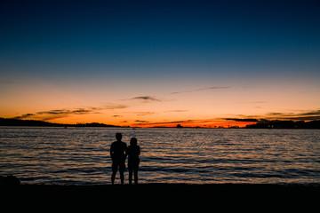 couple in a beach