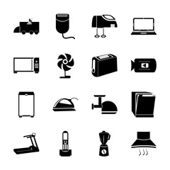 icon Electronic with machine, dirty, appliance, athletic and plate