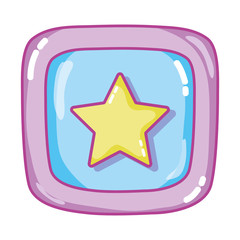 star picture baby cube game
