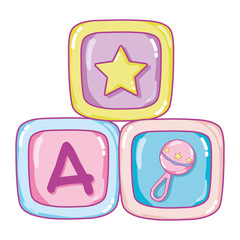 education cubes baby play objects