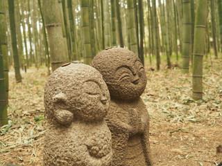 竹林と地蔵