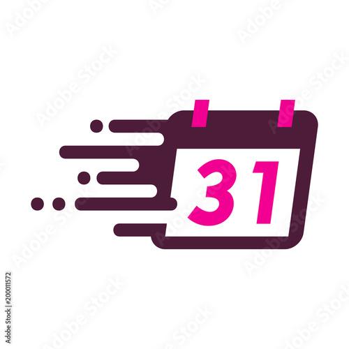 calendar speed logo icon design stock image and royalty free vector